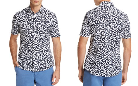 Michael Kors Birch Print Slim Fit Button-Down Shirt - 100% Exclusive - Bloomingdale's_2