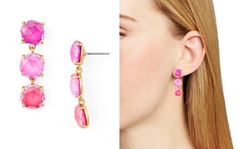 kate spade new york Triple Stone Drop Earrings - Bloomingdale's_2