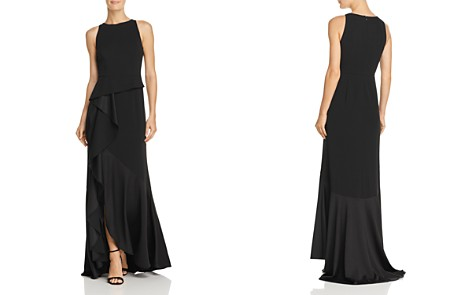 Adrianna Papell Ruffled Knit-Crepe Gown - Bloomingdale's_2