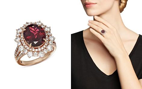 Bloomingdale's Rhodolite Garnet & Diamond Statement Ring in 14K Rose Gold - 100% Exclusive _2