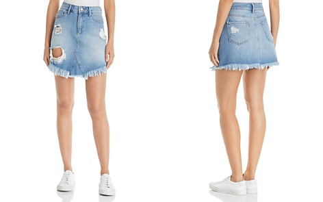 Mavi Sonia Destructed Denim Skirt in Light Ripped Vintage - Bloomingdale's_2