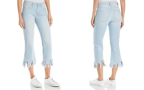Mavi Anika Frayed-Hem Crop Flare Jeans in Bleach Vintage - Bloomingdale's_2