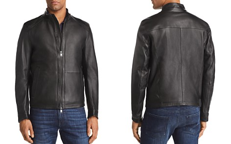 BOSS Nestal Leather Jacket - Bloomingdale's_2