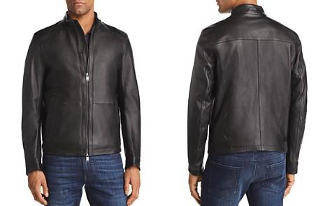 BOSS Nestal Leather Jacket - Bloomingdale's_2
