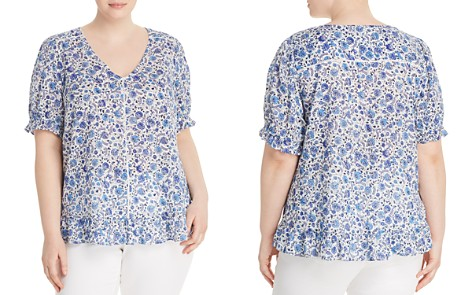 Lucky Brand Plus Ruffle-Trim Floral-Print Top - Bloomingdale's_2