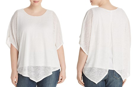 Status by Chenault Plus Layered Poncho Top - Bloomingdale's_2