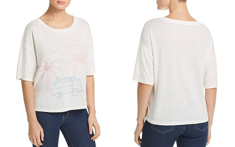 Honey Punch Embroidered Palm Tee - Bloomingdale's_2