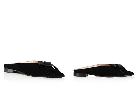 Stuart Weitzman Women's Bree Suede & Leather Bow Mules - Bloomingdale's_2