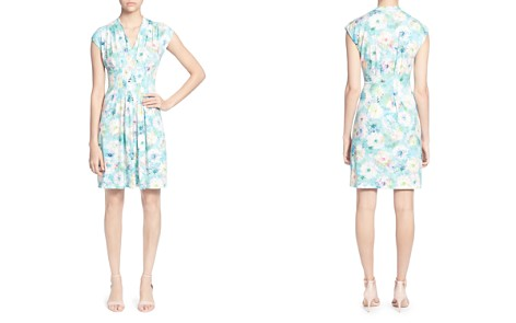 CATHERINE Catherine Malandrino Tinka Pleated Watercolor Floral Dress - Bloomingdale's_2