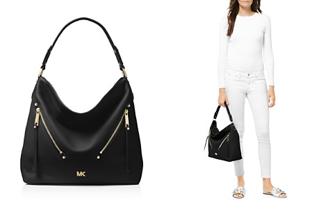 MICHAEL Michael Kors Evie Large Leather Hobo - Bloomingdale's_2