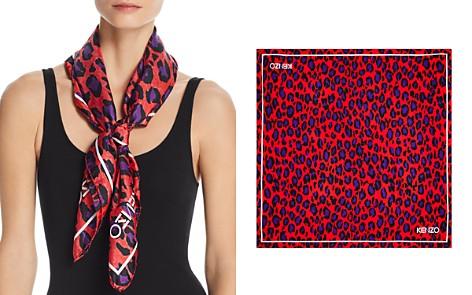 Kenzo Carre Leopard Print Silk Scarf - Bloomingdale's_2