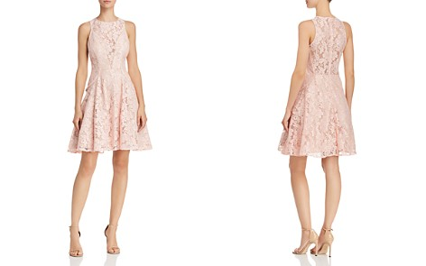 Avery G Lace Illusion-Front Fit-and-Flare Dress - Bloomingdale's_2