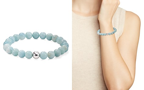 AQUA Silver Beaded Stretch Bracelet - 100% Exclusive - Bloomingdale's_2