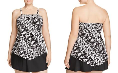 Miraclesuit Plus Tiki Hankini Tankini Top & Solid Swim Skirt - Bloomingdale's_2