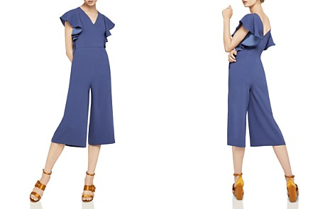 BCBGeneration Ruffle-Sleeve Cropped Jumpsuit - Bloomingdale's_2