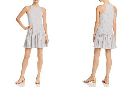 Rebecca Taylor Eyelet Jersey Drop-Waist Dress - Bloomingdale's_2