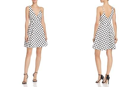 AQUA Polka-Dot Print Asymmetric Fit-and-Flare Dress - 100% Exclusive - Bloomingdale's_2
