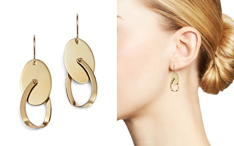 Bloomingdale's Oval Swing Earrings in 14K Yellow Gold - 100% Exclusive_2