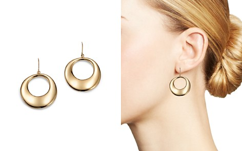Bloomingdale's Round Drop Earrings in 14K Yellow Gold - 100% Exclusive_2