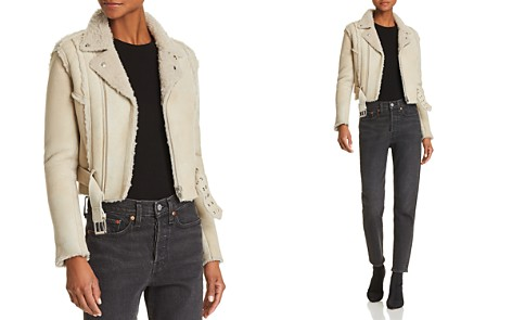 IRO.JEANS Synal Shearling Moto Jacket - Bloomingdale's_2