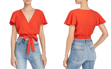 AQUA Faux-Wrap Cropped Top - 100% Exclusive - Bloomingdale's_2
