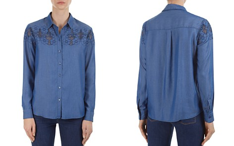Gerard Darel Camelia Openwork Button-Down Shirt - Bloomingdale's_2