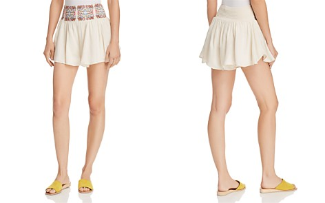AQUA Embroidered Smocked Shorts - 100% Exclusive - Bloomingdale's_2