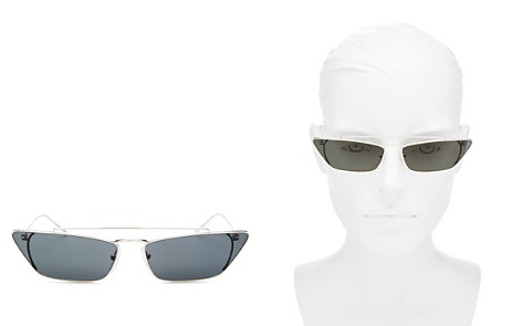 Prada Women's UltraVox Brow Bar Slim Cateye Sunglasses, 67mm - Bloomingdale's_2