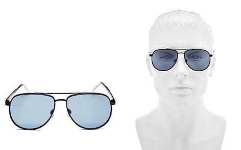 Le Specs Men's Brow Bar Aviator Sunglasses, 60mm - Bloomingdale's_2