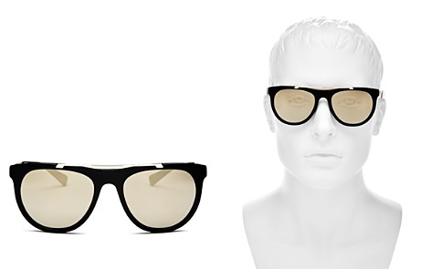 Versace Mirrored Brow Bar Square Sunglasses, 56mm - Bloomingdale's_2