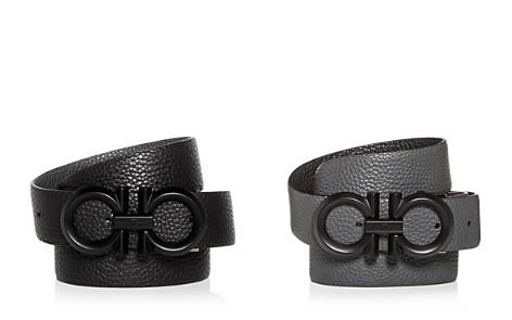 Salvatore Ferragamo Black Buckle Reversible Leather Belt - Bloomingdale's_2