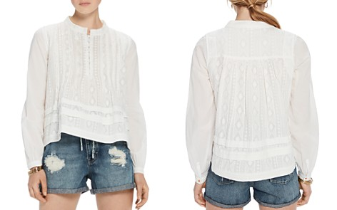 Scotch & Soda Embroidered Cotton Top - Bloomingdale's_2