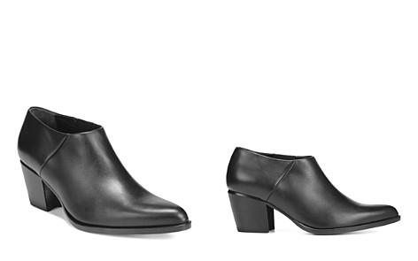 Vince Women's Hamilton Leather Mid-Heel Ankle Booties - Bloomingdale's_2