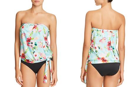 ATHENA Hidden Garden Blouson Tankini Top & Fold-Over High-Waist Bikini Bottom - Bloomingdale's_2