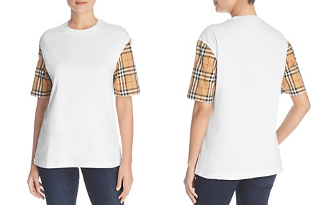Burberry Serra Check-Sleeve Tee - Bloomingdale's_2