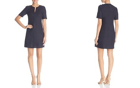 Tory Burch Hillary Linen Logo-Button Dress - Bloomingdale's_2
