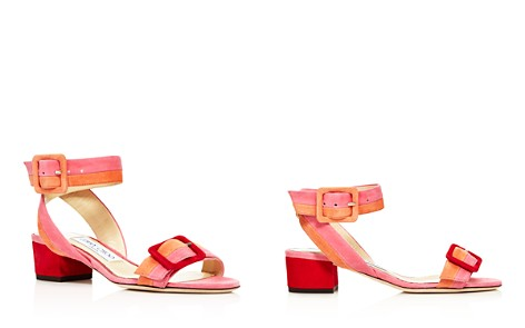 Jimmy Choo Women's Dacha 35 Suede Color-Block Block Heel Sandals - Bloomingdale's_2