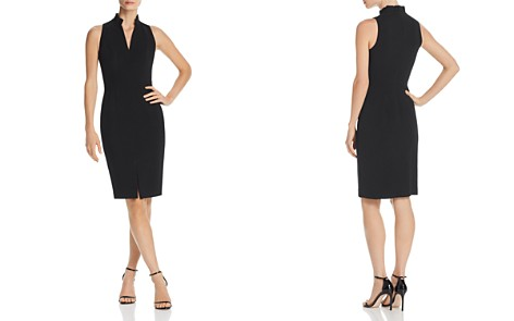Black Halo Antoinette Pleated-Collar Dress - Bloomingdale's_2