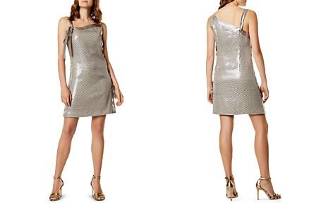 KAREN MILLEN Sequined Lace-Up Mini Dress - Bloomingdale's_2