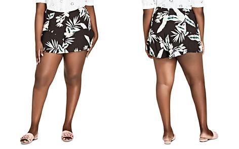 City Chic Plus Oahu Floral Ruffle-Trim Shorts - Bloomingdale's_2