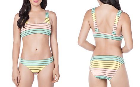 Trina Turk Lurex Stripe Bralette Bikini Top & Hipster Bikini Bottom - Bloomingdale's_2