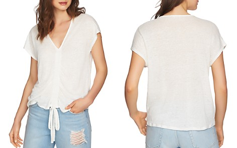 1.STATE Ruched Drawstring Linen Top - Bloomingdale's_2