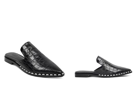 Sigerson Morrison Women's Elana Point-Toe Croc-Embossed Leather Slide Mules - Bloomingdale's_2
