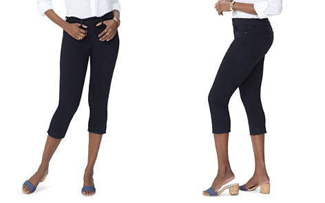 NYDJ Petites Released-Hem Capri Jeans in Black - Bloomingdale's_2