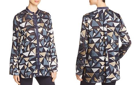 Lafayette 148 New York Desra Sheer Metallic Printed Blouse - Bloomingdale's_2