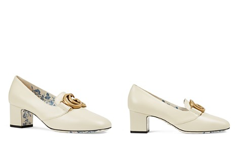 Gucci Women's Leather Double G Mid Heel Pumps - Bloomingdale's_2