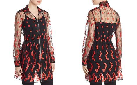 Elie Tahari Nicolette Floral Embroidered Mesh Jacket - Bloomingdale's_2