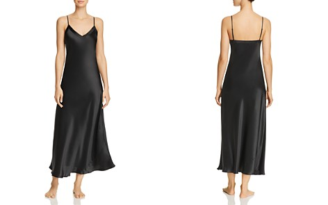 GINIA Silk V-Neck Nightgown - Bloomingdale's_2