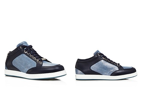 Jimmy Choo Women's Miami Denim & Leather Low Top Sneakers - Bloomingdale's_2