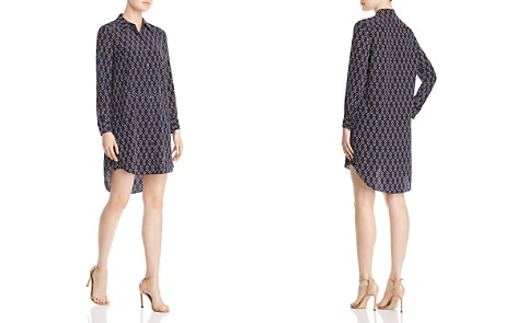 Tory Burch Michelle Geometric Silk Shirt Dress - Bloomingdale's_2